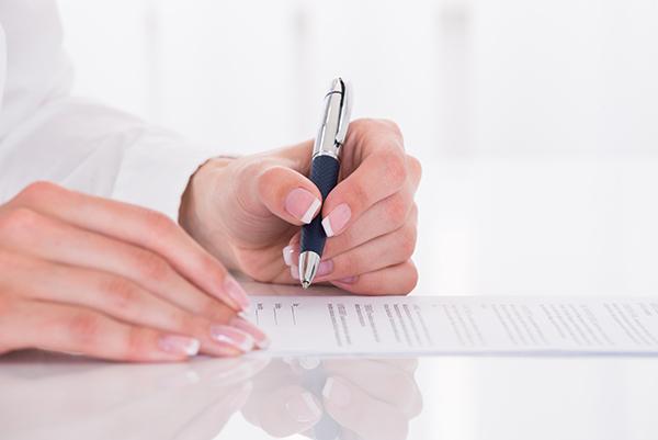 Filling out form - Dermatology Associates of York, PA